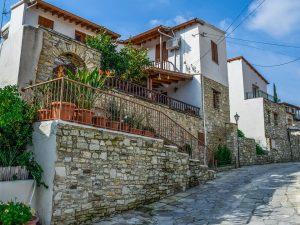 Kalavassos Traditional Architecture Street Cyprus